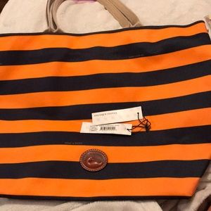 Dooney and Bourke Orange and Blue Tote